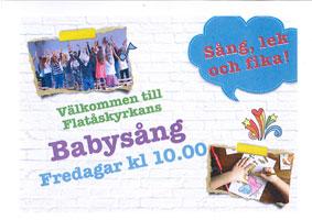"""Babysång """"Eva-Ringen""""  – fredagar kl.10-11:30"""