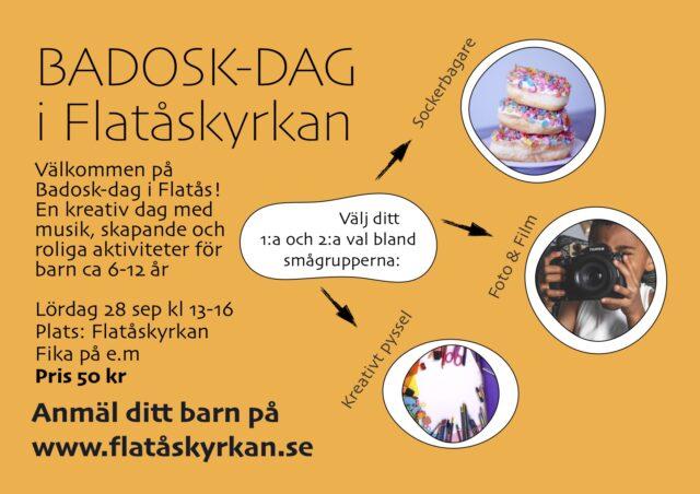 Anmälan till Badosk-dag i Flatåskyrkan