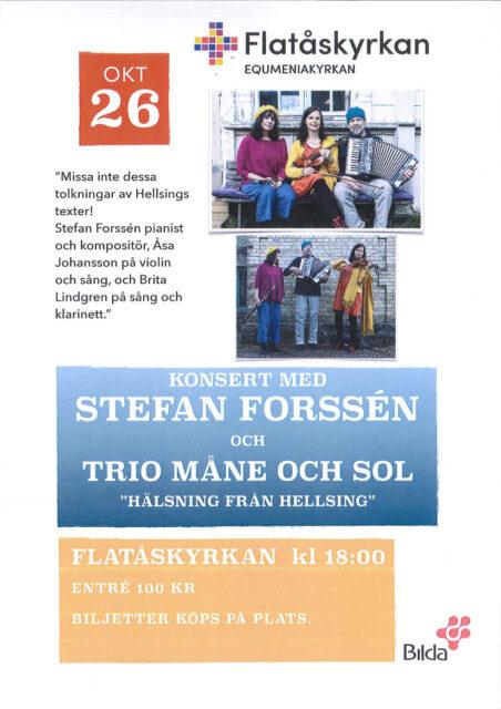 """Konsert: """"Hälsning från Hellsing"""" 26/10 kl.18"""