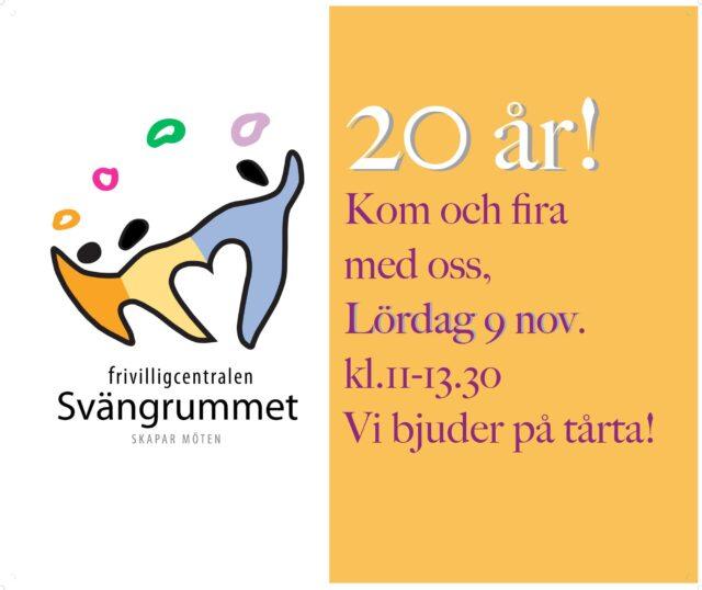 Frivilligcentralen Svängrummets 20 års-jubileum