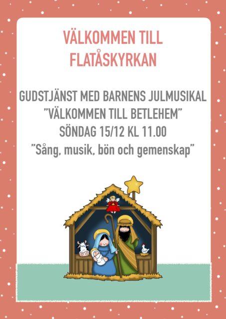 Barnens julmusikal – gudstjänst tredje advent