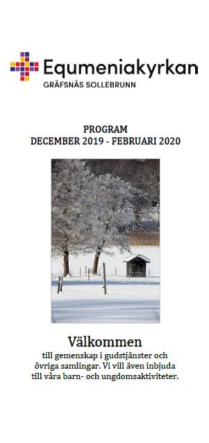 Framsidebild till programblad december 2019 - februari 2020