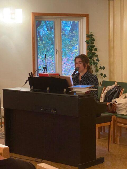 En fin sång och musikkväll blev starten för hösten i Gudbykyrkan efter pandemin