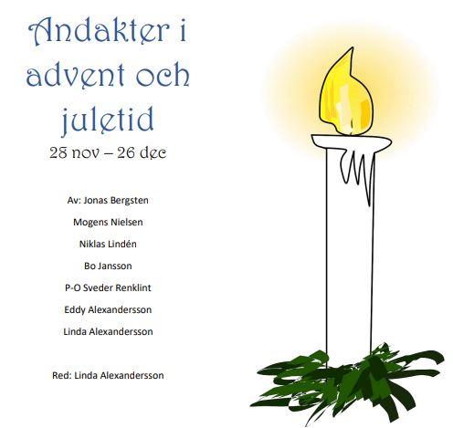 Andakter i advent och juletid 28 november– 26 december