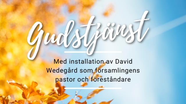 Installation av pastor 17 oktober
