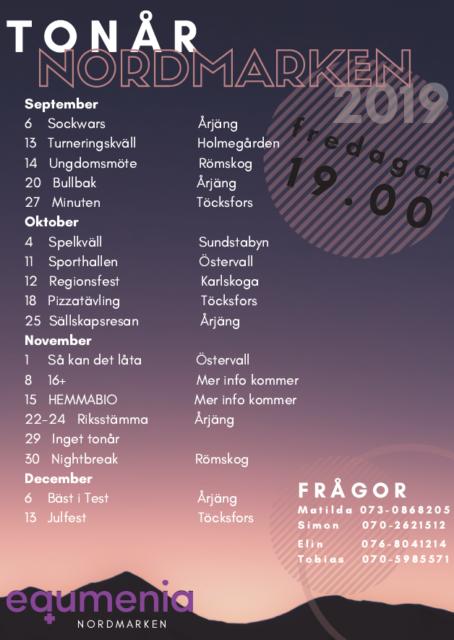 Program för tonår – hösten 2019
