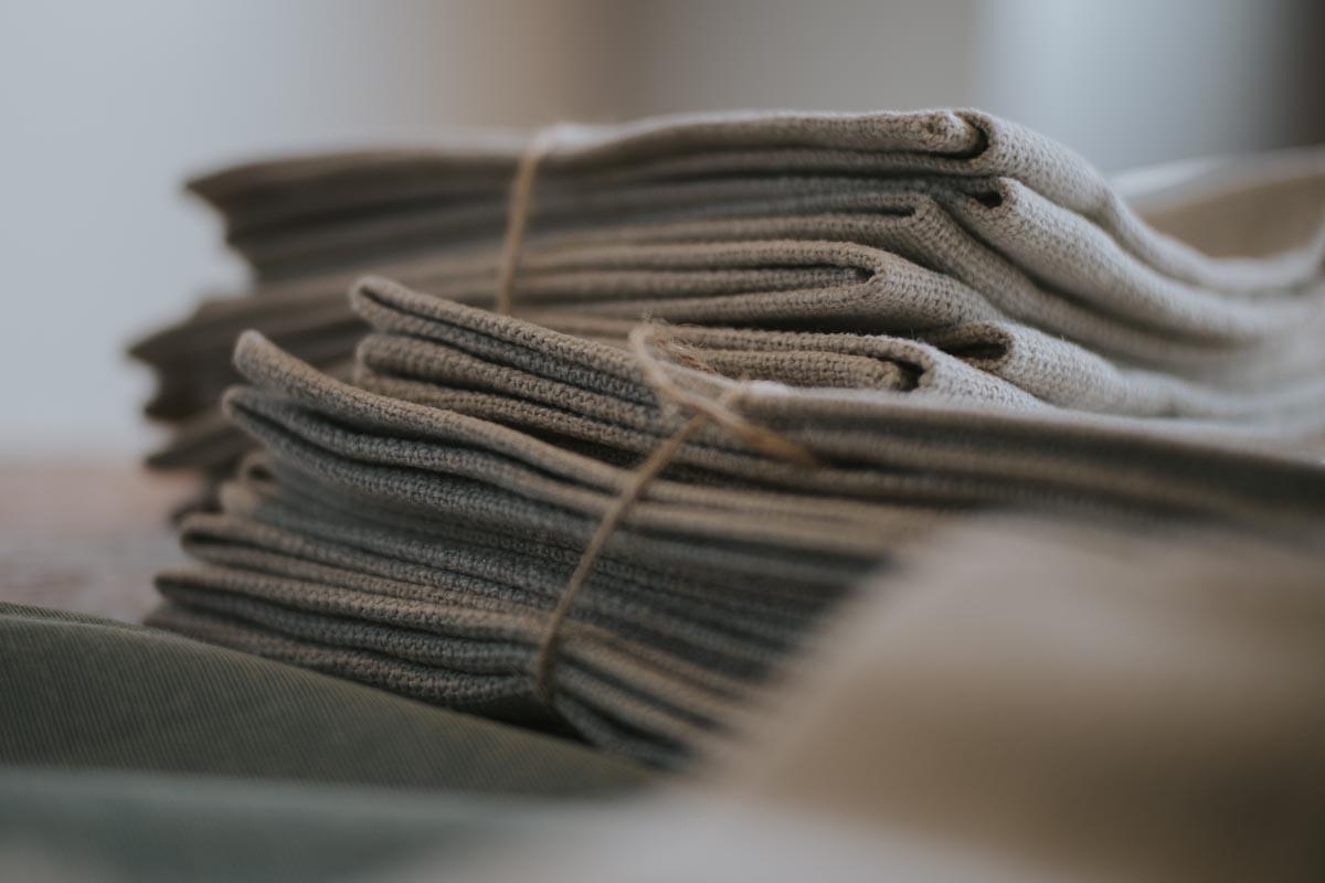 Vikta handdukar