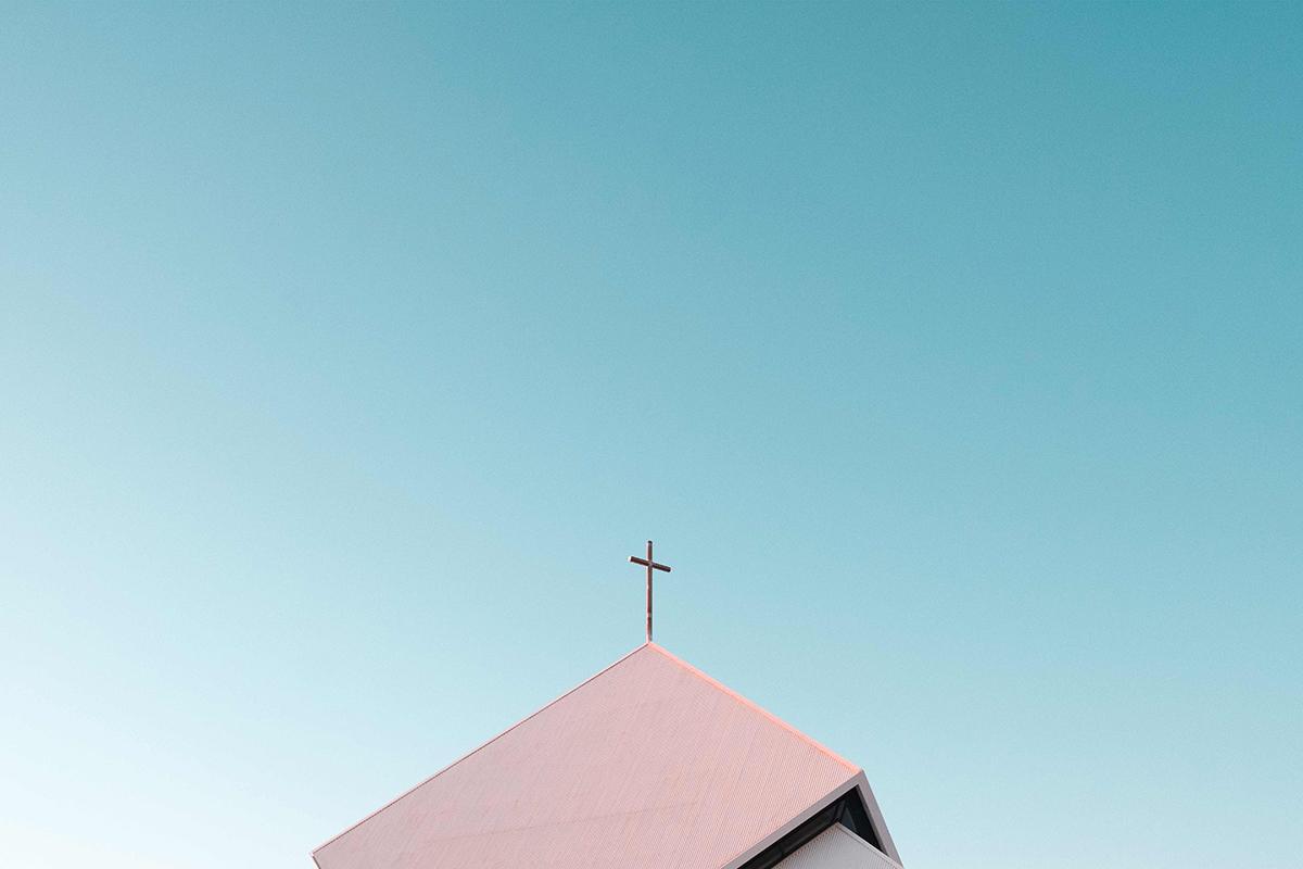 Taket på en kyrka