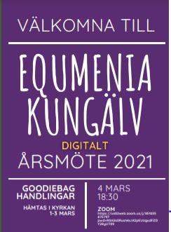 Equmenias årsmöte 4/3 på Zoom