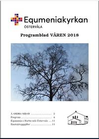 Omslag Programblad, våren 2018, startsida