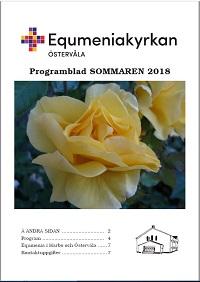Omslag Programblad, sommaren 2018, startsida