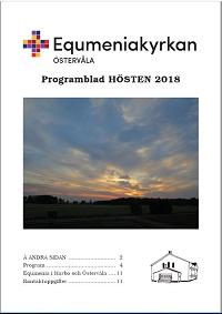 Omslag Programblad, hösten 2018, startsida