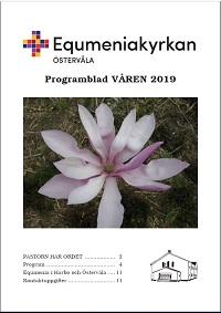 Omslag Programblad, våren 2019, startsida