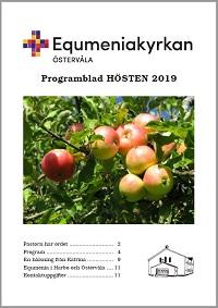 Omslag Programblad, hösten 2019, startsida