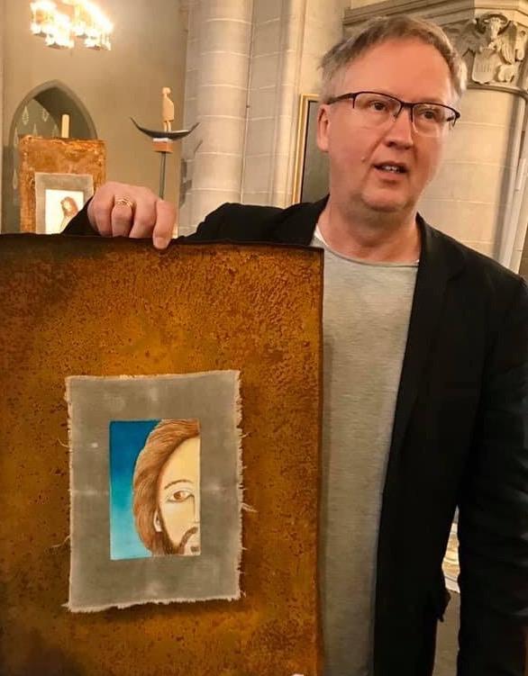 Mats Hermansson med en av sina ikoner