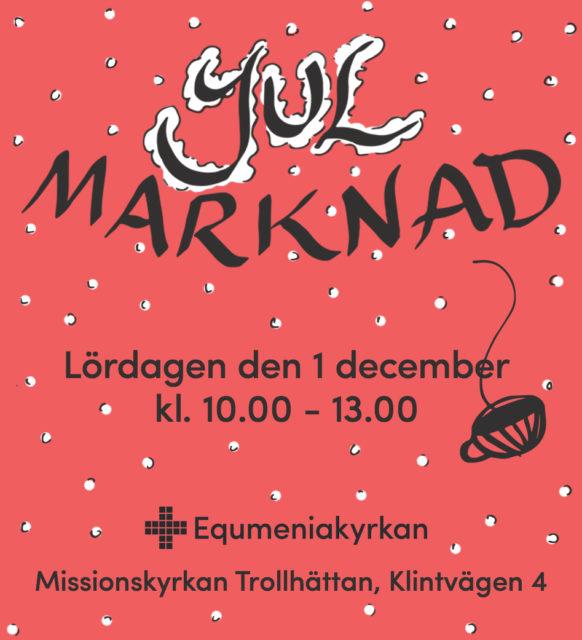 Julmarknad 1 december kl. 10-13