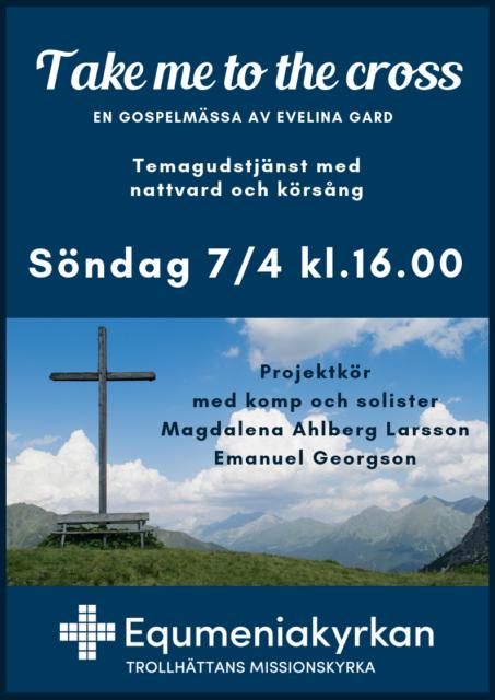 En annorlunda gudstjänst 7 april kl 16