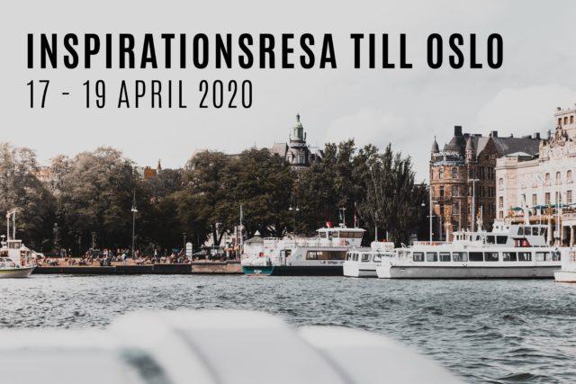"""Hamn i Oslo och text """"inspirationsresa till oslo - 17-19 april"""""""