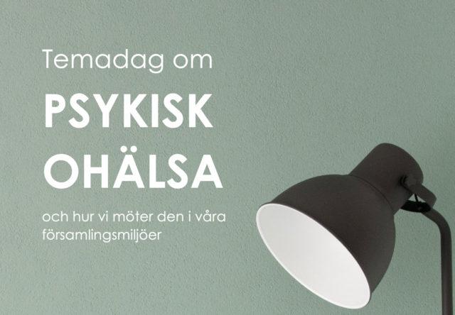 Bild med lampa och texten Psykisk ohälsa
