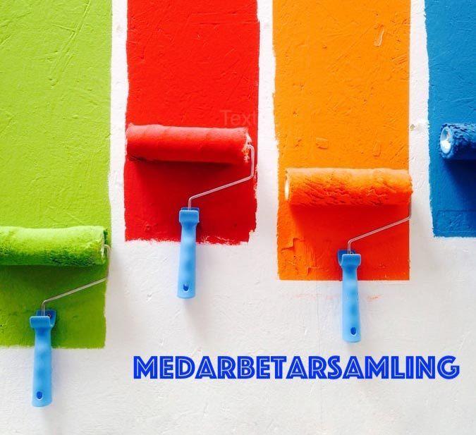 Färger målade med roller