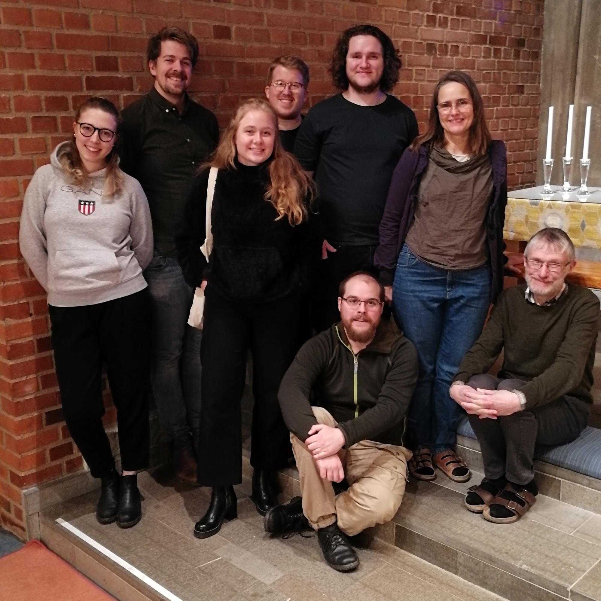 En grupp med ungdomsledare