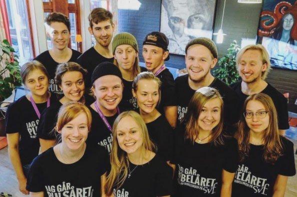 Elever på bibellinjen på SVF