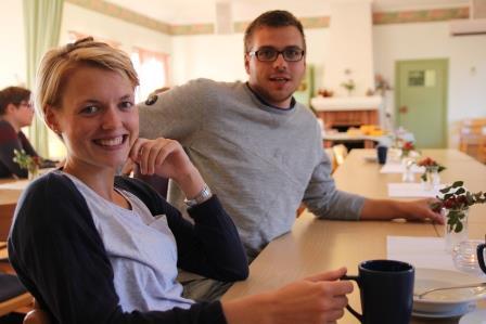 Elever vid EHS - Maria och Oscar