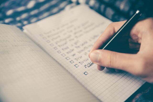 Lista över saker att göra