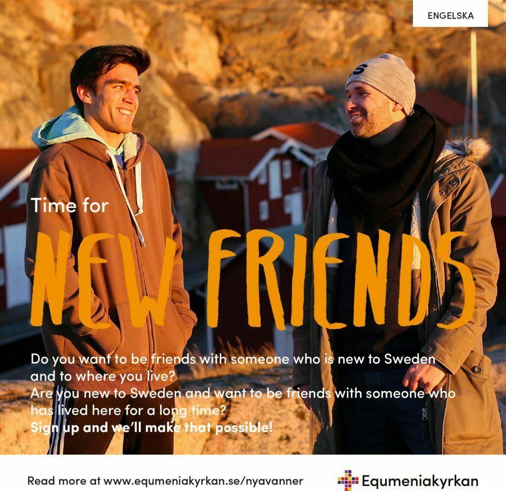 Nya vänner - folder - engelska