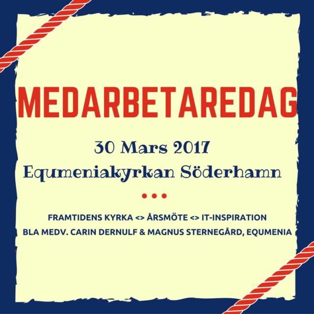 Medarbetardag 30 mars i Equmeniakyrkan Söderhamn