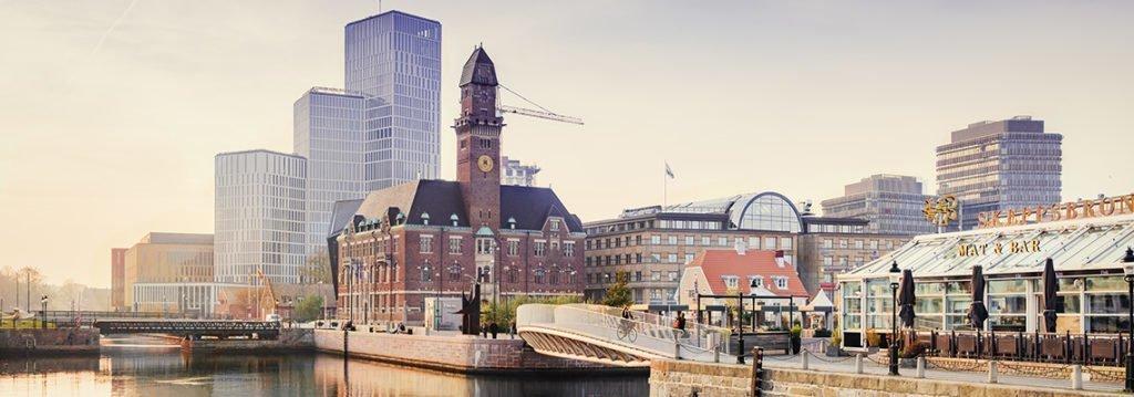 Vy över Malmö stad