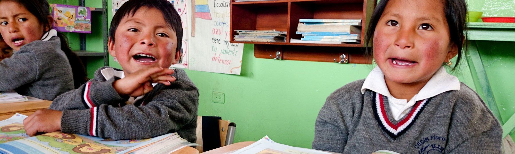 Skolbarn i Ecuador