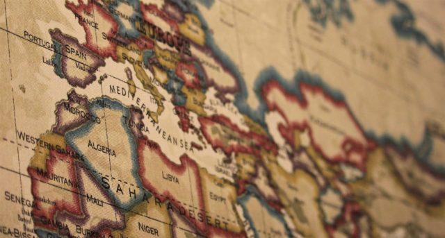 Närbild på karta