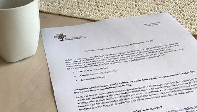 Sommarhälsning från Myndigheten för stöd till trossamfund