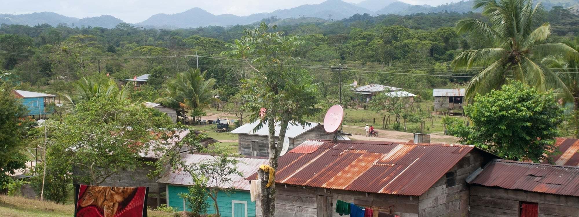 Utsikt över en liten by i Nicaragua