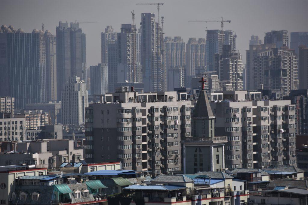 Vy över staden Wuhan