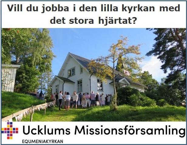 Ucklums Missionsförsamling söker pastor eller diakon 20-25%