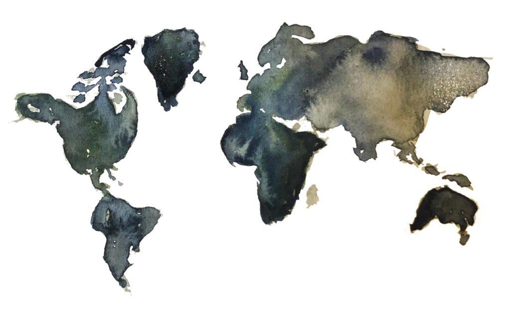 Målad karta - Till jordens yttersta gräns