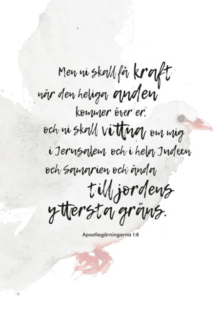 Poster med Apg 1:8