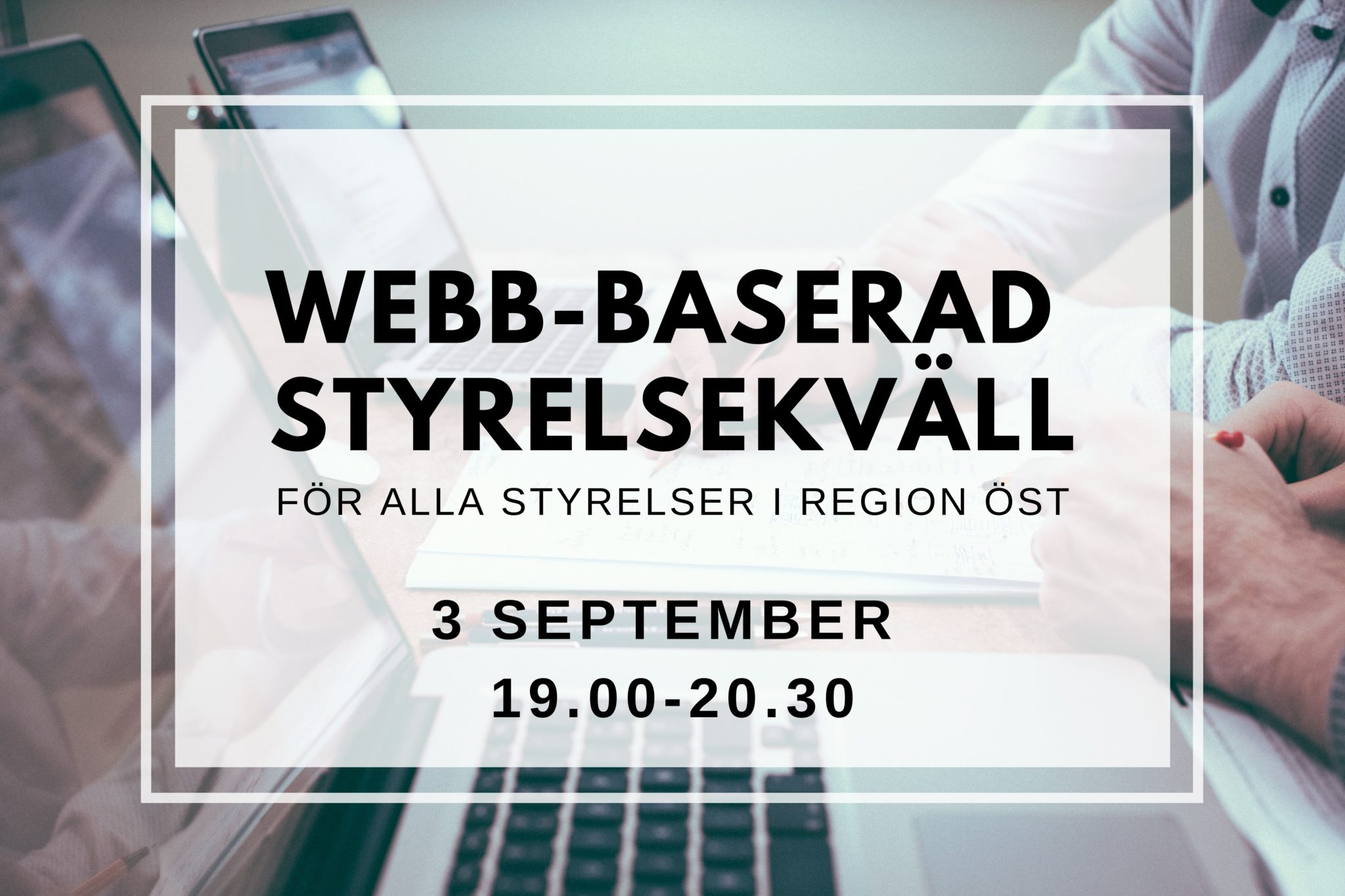 Informerar om webb-baserad styrelsekväll 3/9 2020