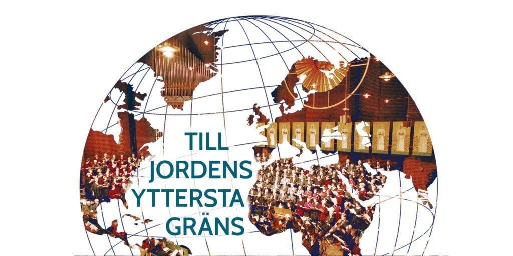 Musikfesten - Jordglob med texten Till jordens yttersta gräns