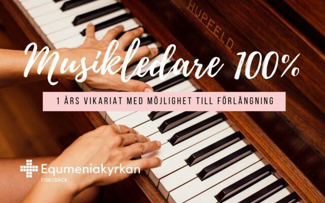 Equmeniakyrkan Fiskebäck söker musikledare 100%