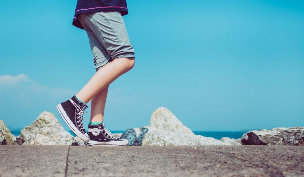 Person som vandrar