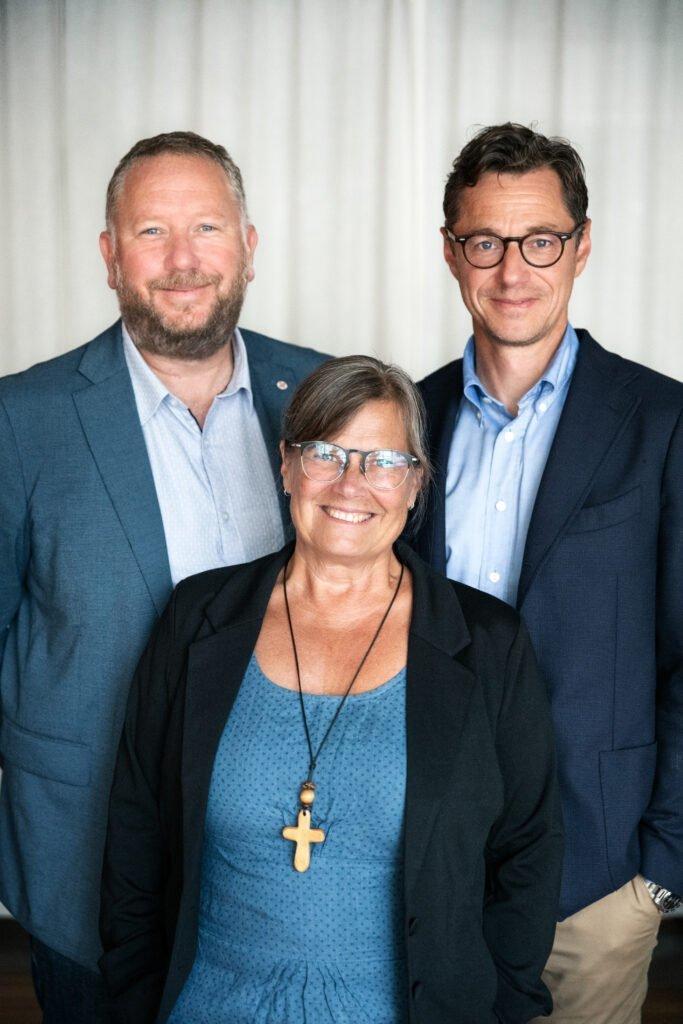 Lasse Svensson, Karin Wiborn och Joakim Hagerius