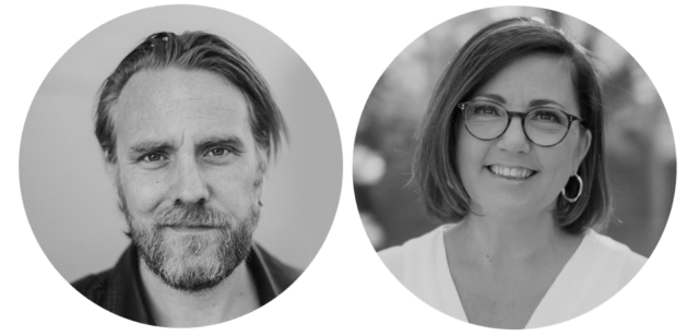 Mikael Jeff Johnsson och Jeanette Alfredsson